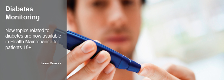 Diabetes Health Maintenance Topics
