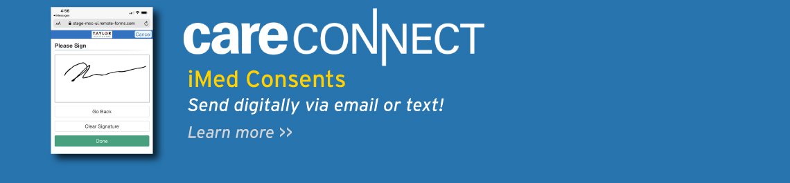 CareConnect iMed Consent - Send digitally via email or text